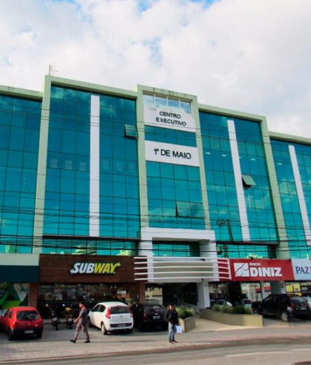 Imagem do Centro Executivo 1º de Maio, sede do GRUPO CONSESC